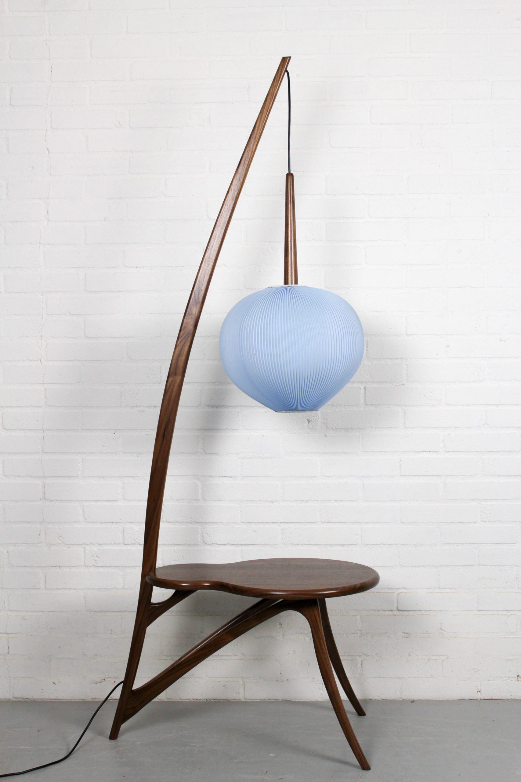 Image of: Mid Century Modern Floor Lamp And American Nut Table Blue The Great Apple